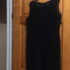 A classic a line black dress